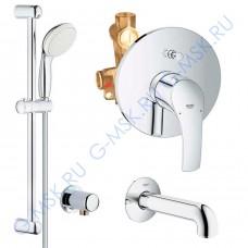 Eurosmart 100 Tempesta 55037000 смеситель для ванны Grohe с душем
