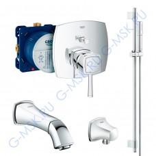 Grandera 220 55029000 смеситель Grohe для ванны с душем