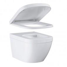 Euro Ceramic 39554000 подвесной унитаз Grohe с сидением микролифт