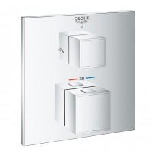 Grohtherm Cube 24154000 встраиваемый термостат для душа Grohe на 2 выхода