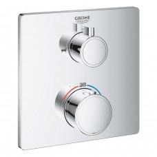 Grohtherm 24080000 термостат для ванны Grohe на 2 выхода