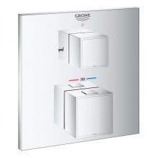 Grohtherm Cube 24155000 встраиваемый термостат для ванны Grohe на 2 выхода